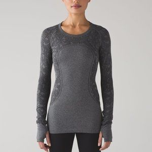 EUC Lululemon Swiftly Tech Long Sleeve Crew Grey 4